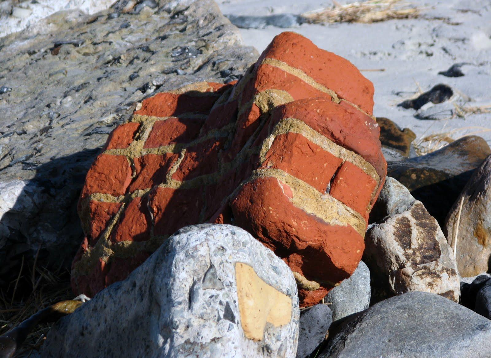 brick on beach 2