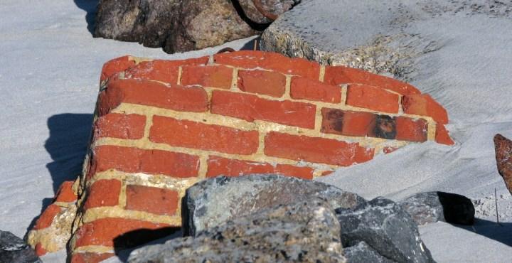 brick on beach