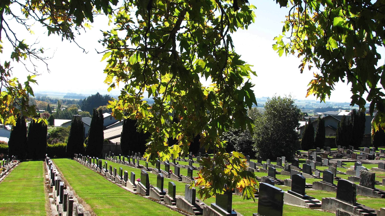 Gore cemetery in autumn