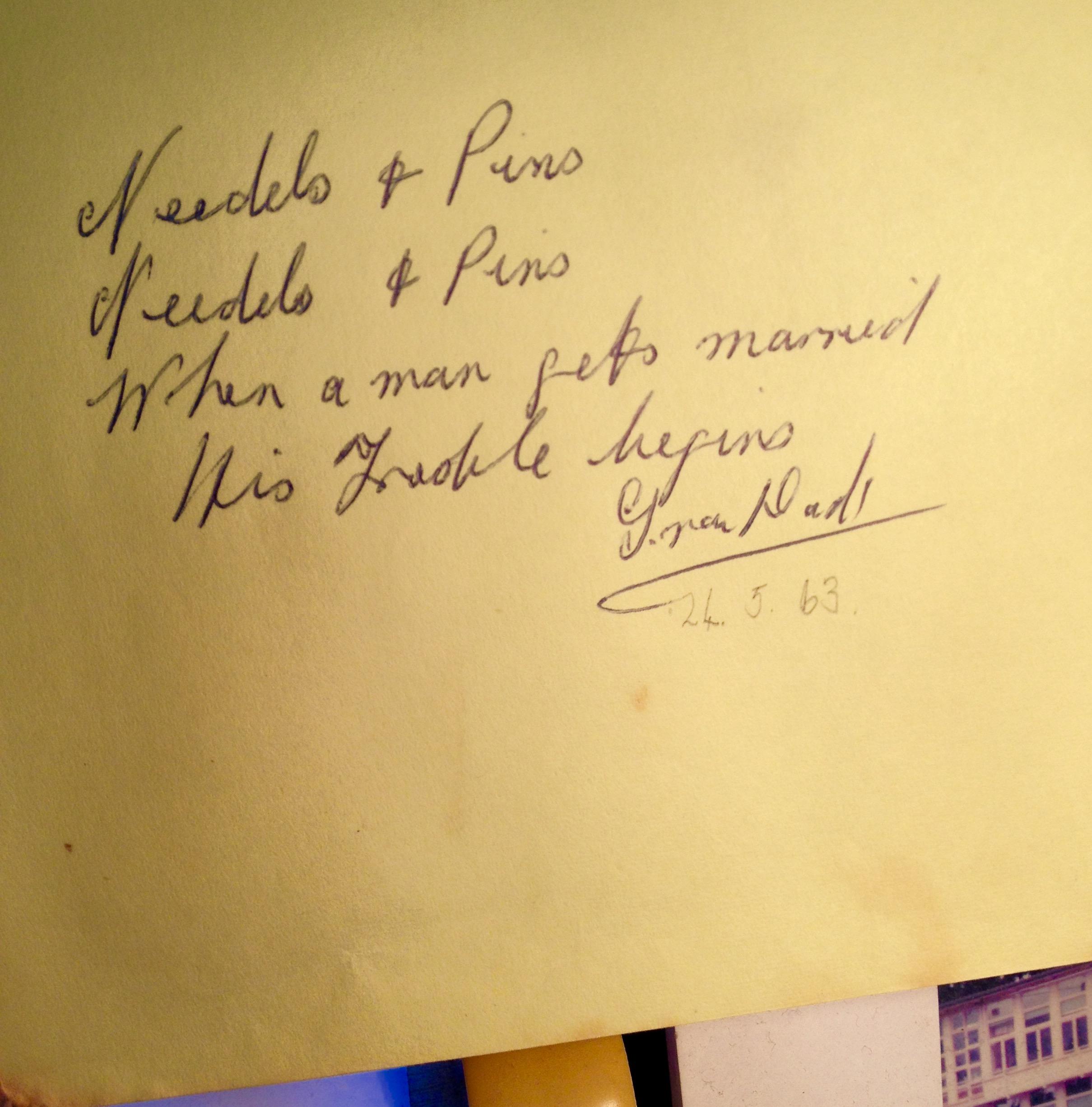 GranDad's autograph