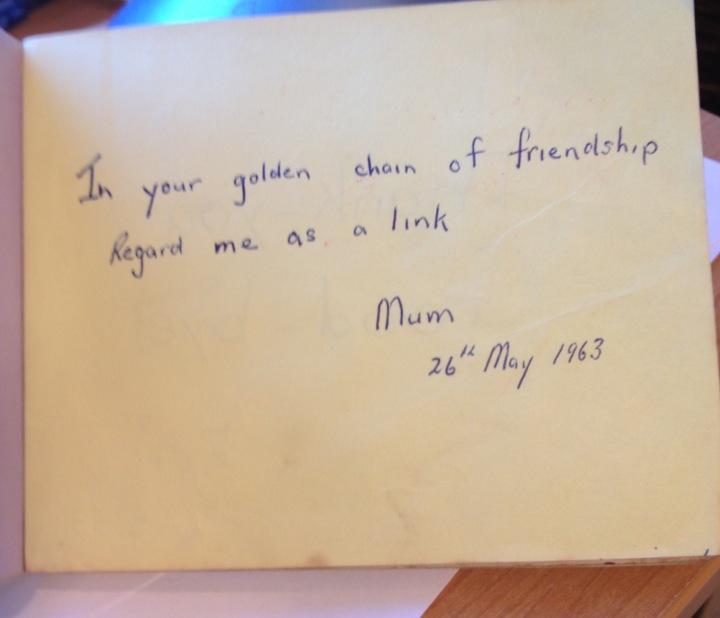 Mum's autograph