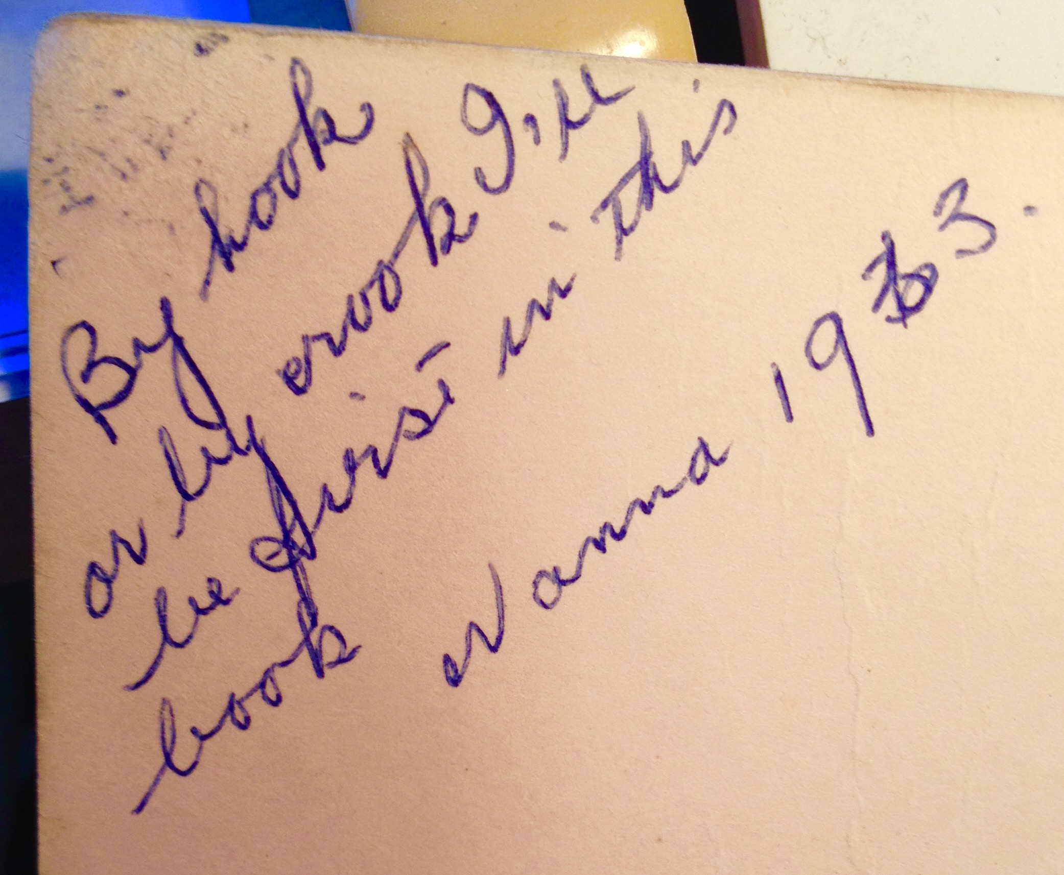Nanna's autograph