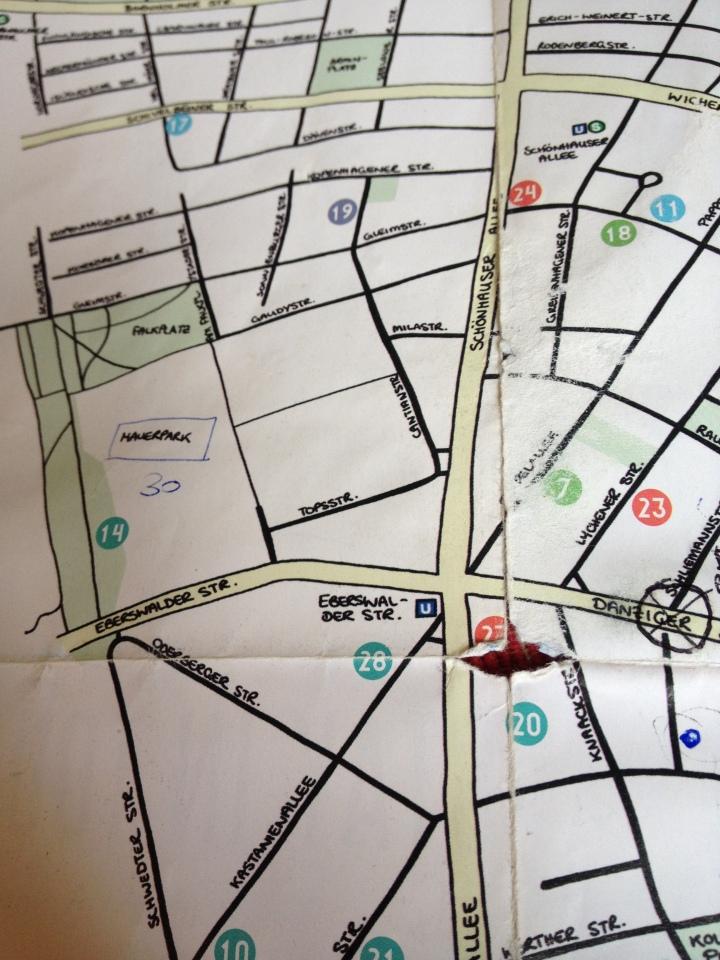 Prenzlauer berg map