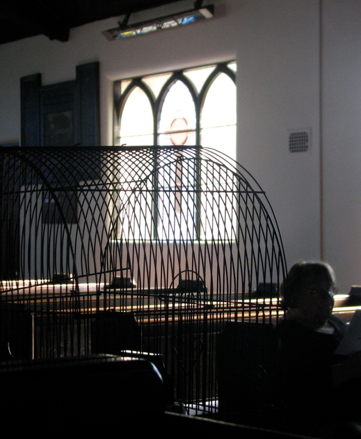 bird cage in church.JPG