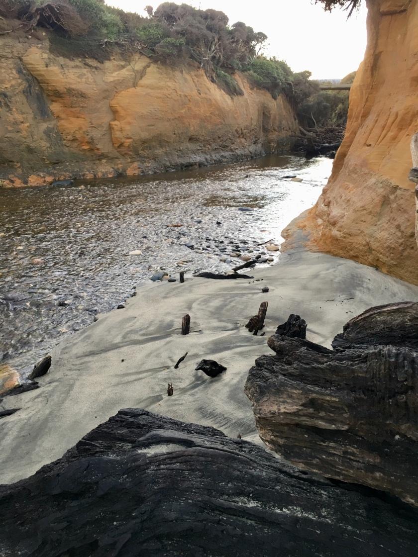 Mouth of Waimeamea creek