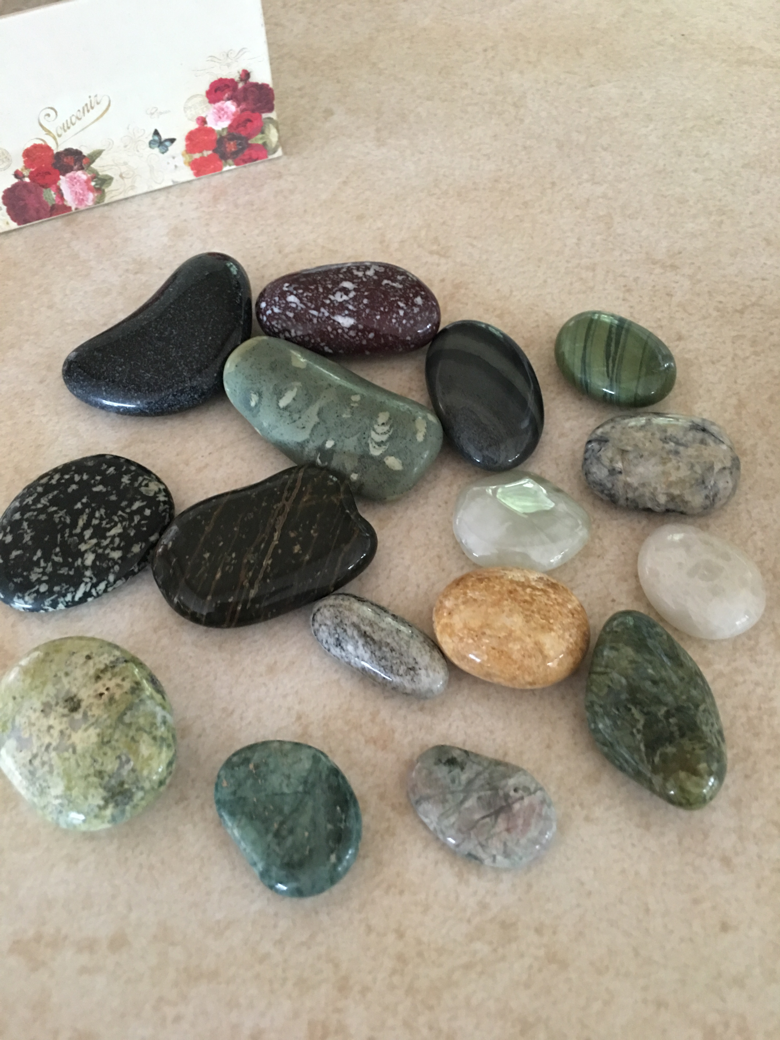 gemstones on bench.JPG